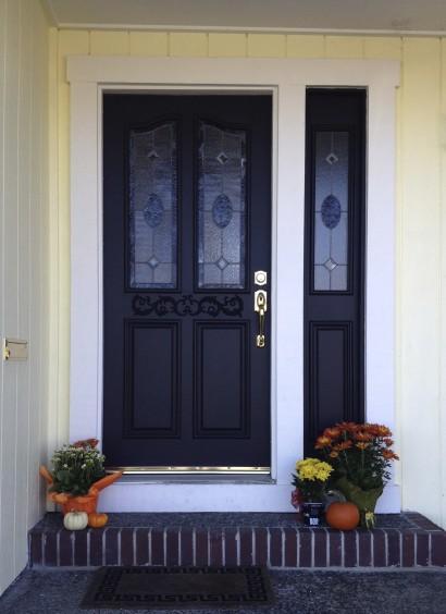 Entrance door after